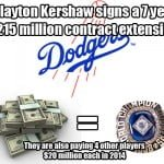 The Dodgers finally do something smart with their money signing Clayton Kershaw