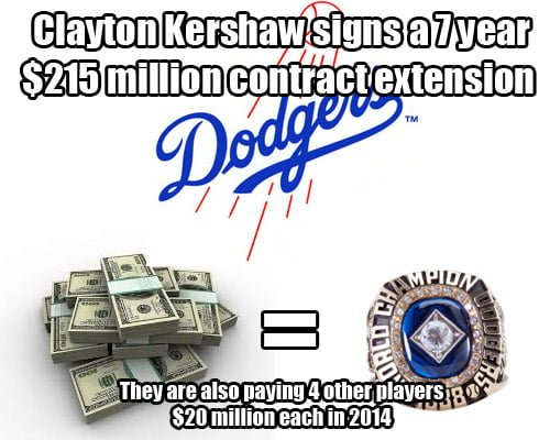 Dodger sign clayton kershaw