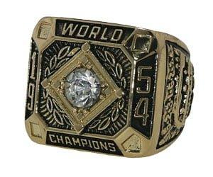 Gaints 1954 Replica World Series Ring 4-26-2014