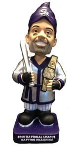 colorado rockies cuddyer gnome 4 6 2014 April 6, 2014 Arizona Diamondbacks vs. Colorado Rockies Batting Champ Bobblehead Gnome