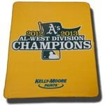 April 5, 2014 Seattle Mariners vs. Oakland Athletics – AL West Champs Fleece Blanket