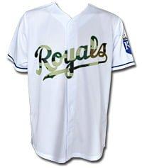 Kansas City Royals Camouflage Jersey 05-26-2014