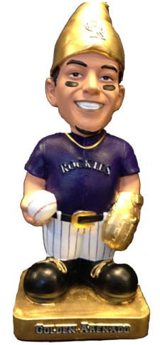 colorado rockies golden gnome bobble 7 13 14 July 13, 2014 Minnesota Twins vs Colorado Rockies Golden Arenado Bobblehead Gnome