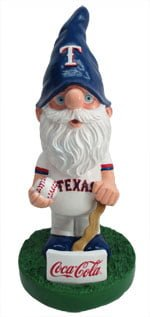 texas rangers Garden Gnome 9 23 2014 September 23, 2103 Taxas Rangers vs. Houston Astros Coca Cola Rangers Garden Gnome
