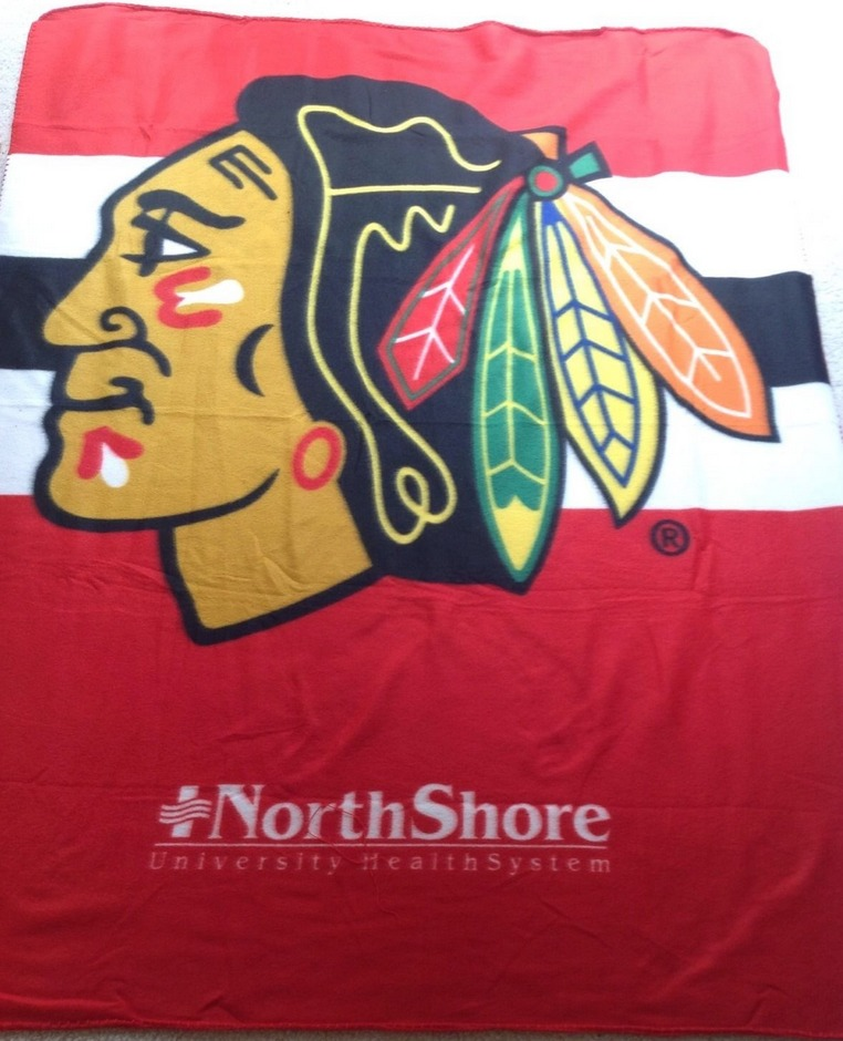 fleece blanket - chicago blackhawks