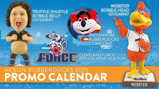 Akron Rubber Ducks 2015 bobbleheads