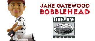 Jake Gatewood Bobblehead - Wisconsin Timber Rattlers - 6-9-2016