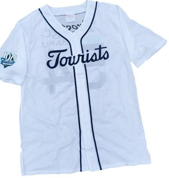 1954 replica jersey - ashville tourists - colorado rockies