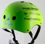 BMX helmet - Vermont Lake Monsters - Oakland Athletics