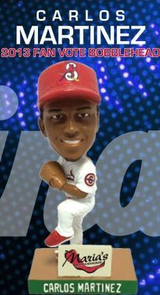 Calor Martinez 2013 Fan Vote Mini Bobblehead - Springfield Cardinals - St Louis Cardinals