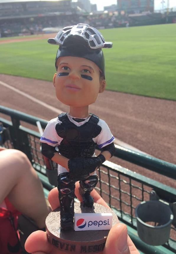 Devin Mesoraco Bobblehead - Louisville Bats - Cincinnati Reds
