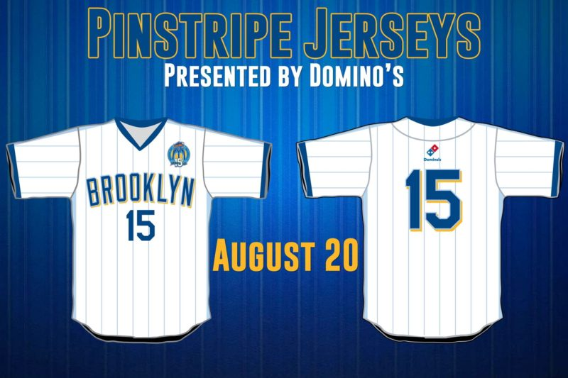 Dominos Jersey - Brooklyn Cyclones - Mets
