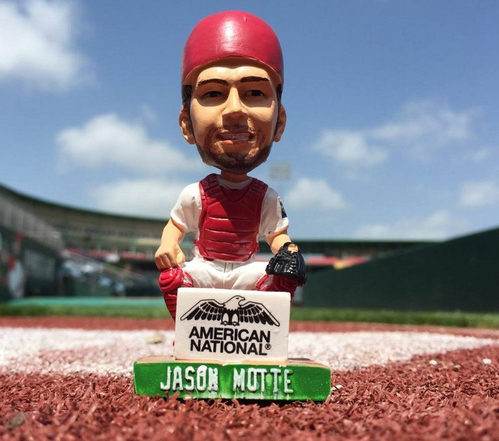 Jason Motte Mini Bobblehead Fan Vote 2006 - Springfield Cardinals - St Louis Cardinals
