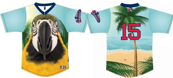 Jimmy Buffet Parrot Head Replica Jersey - Lowell Spinners - Boston Redsox