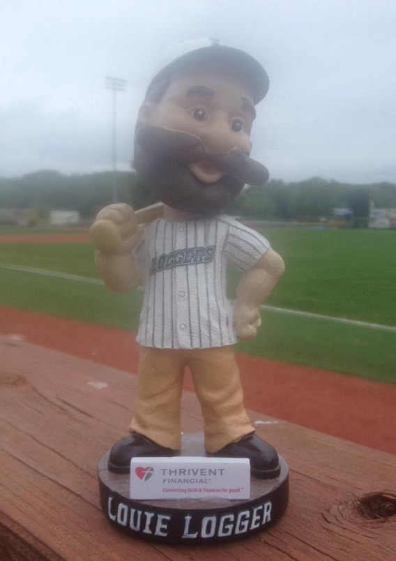 Louie Logger Bobblehead - La Crosse Loggers - Northwoods League