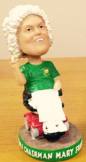 Mary Frances Bragan Bobble-Arm Bobblehead - Jacksonville Suns - Miami Marlins
