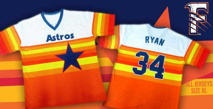 Nolan Ryan Replica Throwback Jersey - Fresno Grizzlies - Houston Astros