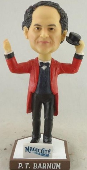 P.T Barnum Bobblehead - Bridgeport Bluefish - Atlantic Professional Baseball