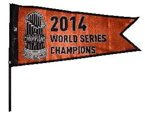 San Francisco Giants_ World Seiries Camp Pannant_4-13-15