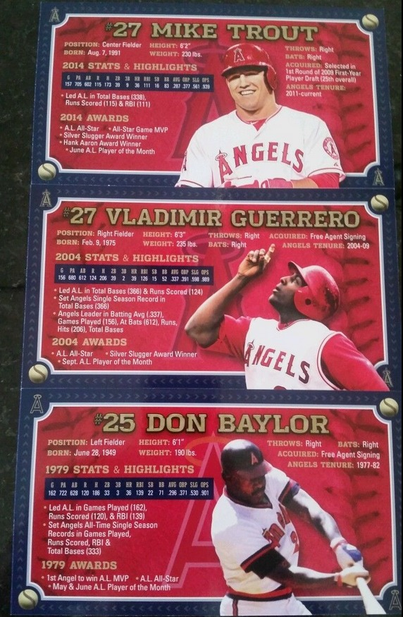 angels mvp collectible cards set