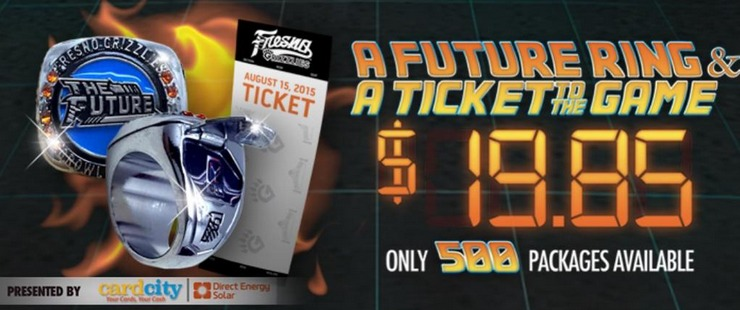 back to the future ring - fresno grizzlies - houston astros