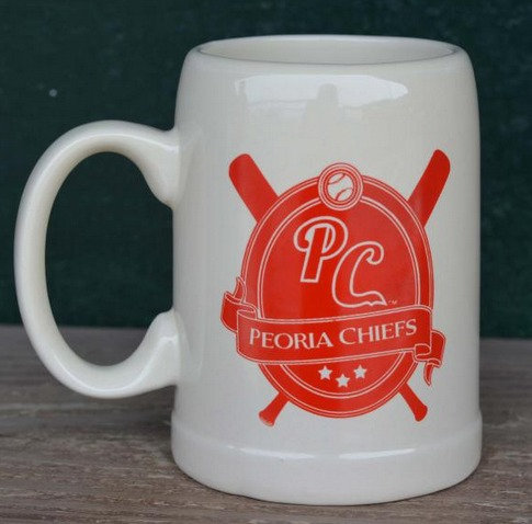 beer stein - peoria chiefs - st louis cardinals