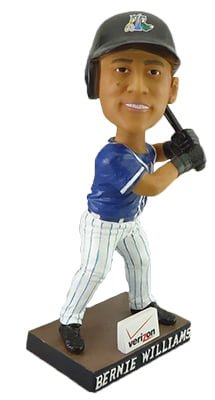 bernie williams bobblehead - trenton thunder - new york yankees