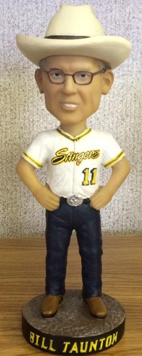 bill tauton bobblehead - wilmar stingers - northwoods league