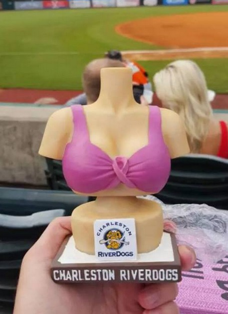 bobble-boobs - charleston riverdogs - new york yankees