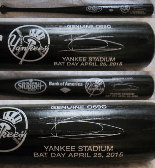 brett gardner replica bat - new york yankees (2)