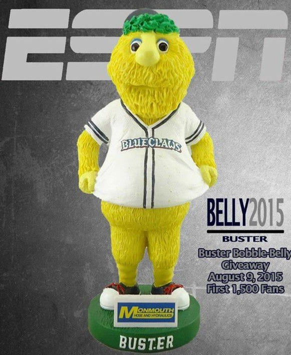 buster belly bobblehead - lakewood blueclaws - philadelphia phillies