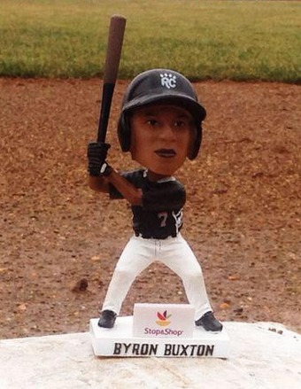 byron buxton bobblehead - new britain rock cats rockies - april 19, 2015