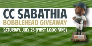c.c sabathia bobblehead - mahoning valley scrappers - cleveland indians