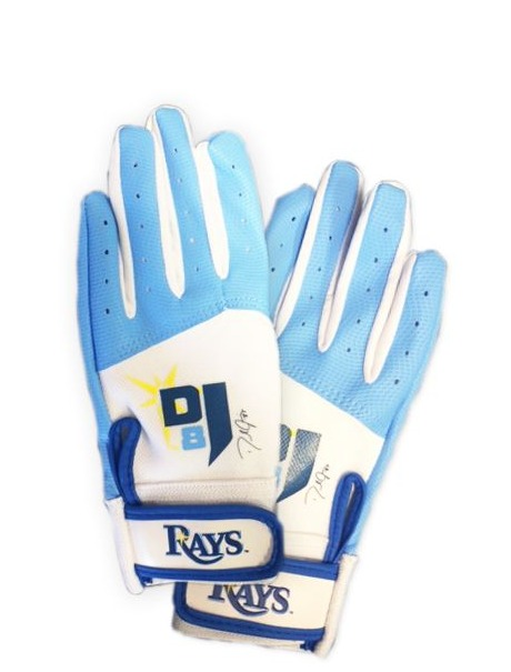 desmond jennings batting gloves - tampa bay rays