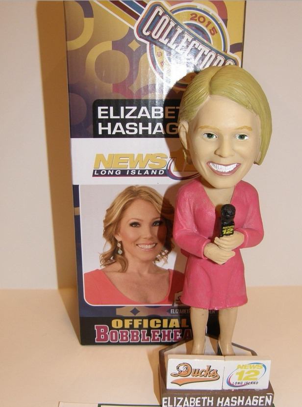 elizabeth hashagen bobblehead - long island ducks - atlantic professional baseball league