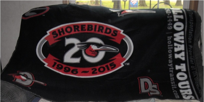 fleece blanket - delmarva shorebirds - baltimore orioles