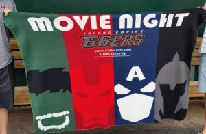 fleece blanket - inland empire 66ers - los angeles angels