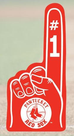 foam finger - pawtucket red sox - boston red sox