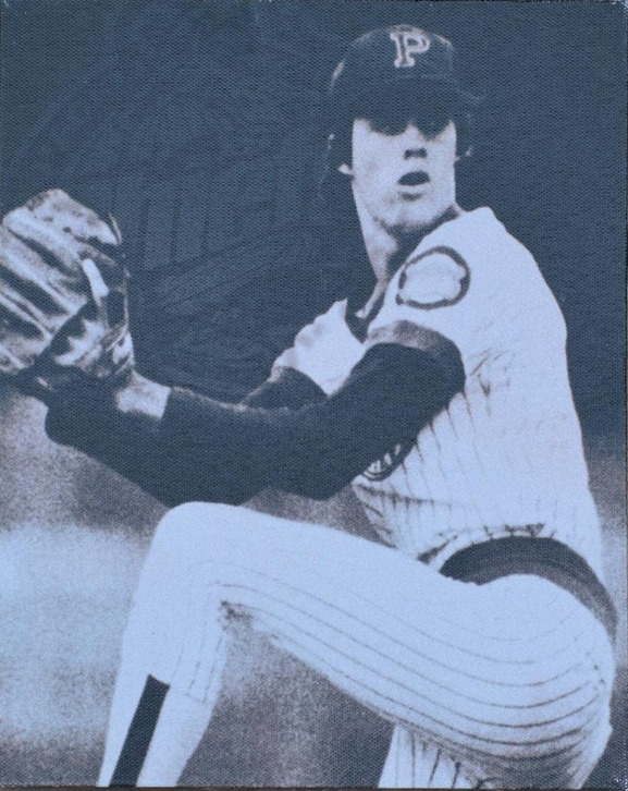 greg maddux canvas - peoria chiefs - st louis cardinals