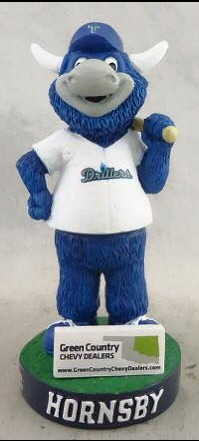 hornsby mini bobblehead - tulsa drillers - los angeles dodgers