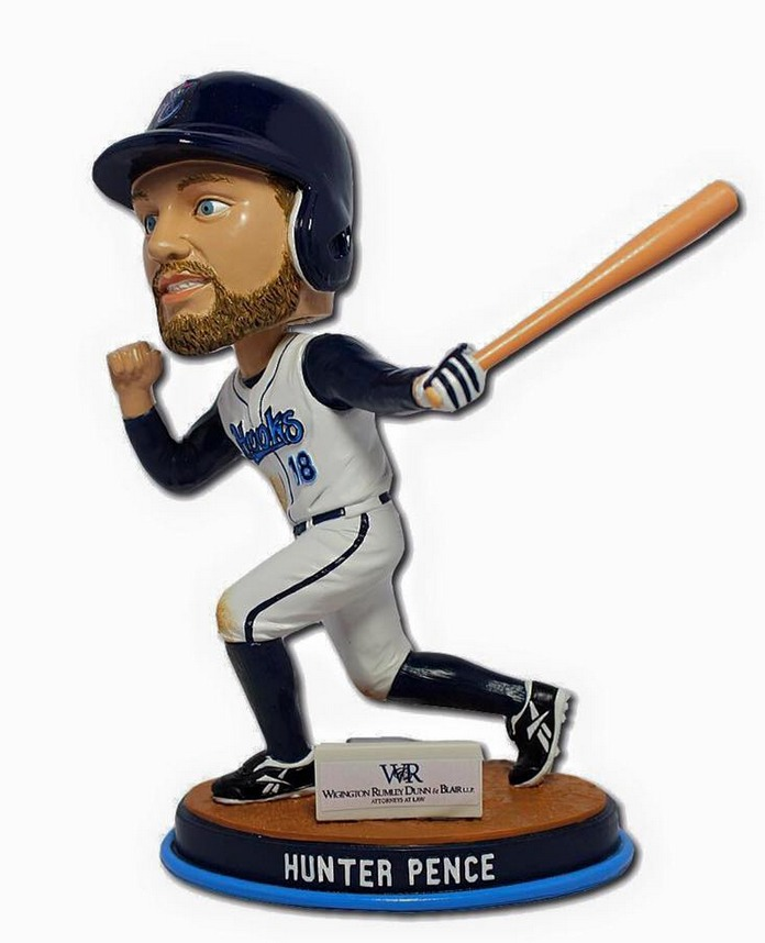 hunter pence bobblehead - corpus cristie hooks - houston astros