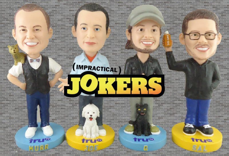 impractical jokers bobbleheads - brooklyn cyclones - new york mets