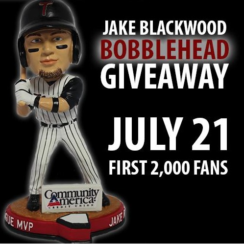 jake blackwell bobblehead - kansas city tbones - july 21, 2015
