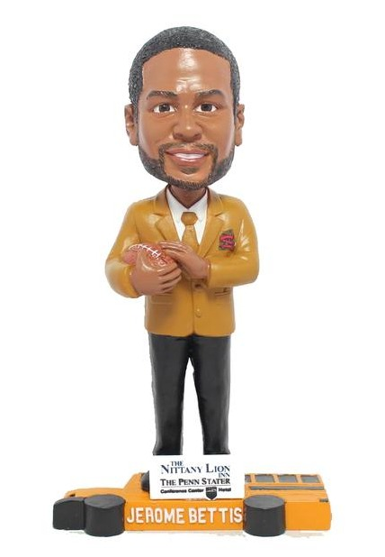 jerome bettis hof gold jacket bobblehead - state county spikes - st louis cardinals