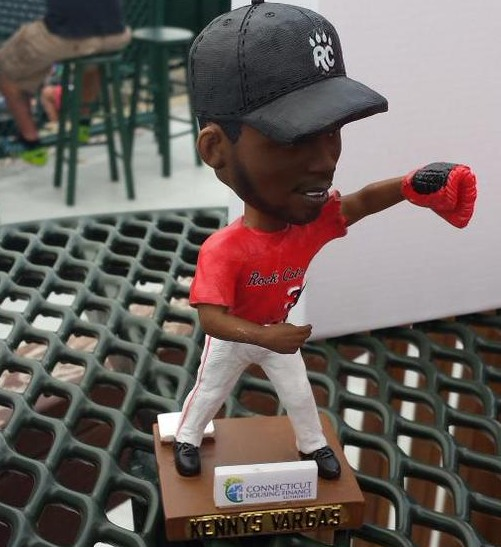 kennys vargas bobblehead - new britain rock cats - colorado rockies