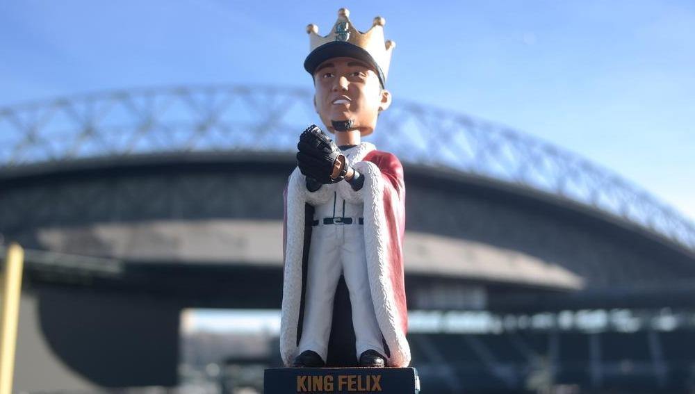 king felix bobblehead - seattle mariners - april 18th, 2015
