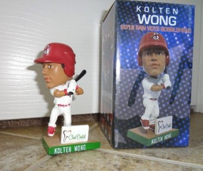 kolton wong 2012 fan vote mini bobblehead - springfield cardinals - st louis cardinals