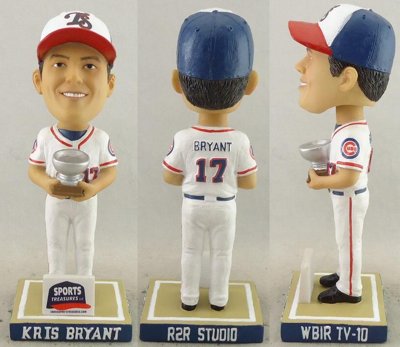 kris bryant bobblehead - tennessee smokies - chicago cubs