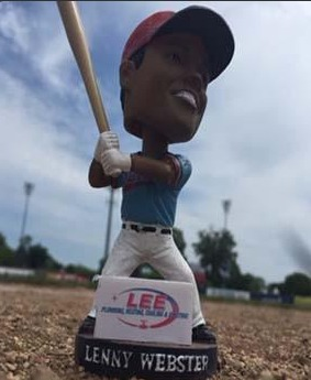 lenny webster bobblehead - kenosha kingfish - northwoods league