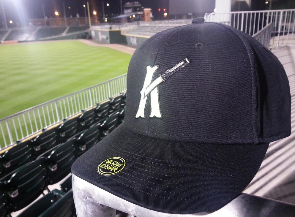 light saber hat - charlette knights - white sox